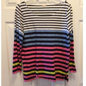 J. Crew Bright Striped Long Sleeve